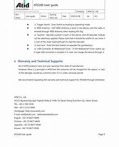 Atid Ats100 Uhf Reader User Manual Ats100 User Guide