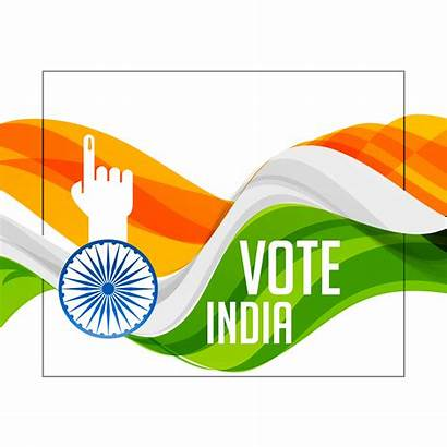 Voting Hand Indian Flag Tri Vote Background