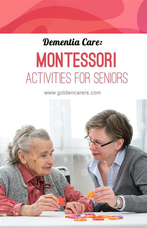 montessori based activities cognitive activities