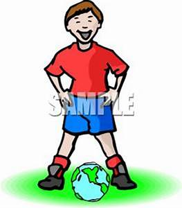 """""""A soccer player standing over 