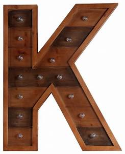 privilege international wooden led letter letter k With wooden letter board