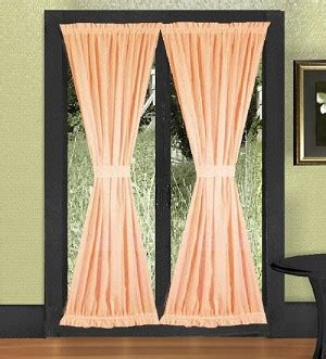 discount window curtains solid peach colored french door