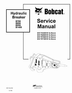 Bobcat B700 Hydraulic Breaker Service Manual Operation