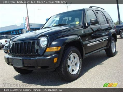black jeep liberty interior black 2006 jeep liberty sport 4x4 medium slate gray