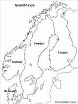 Scandinavia Map Coloring Europe Sweden Outline Norway Maps Enchantedlearning Scandinavian Denmark Printable Blank Vuori Table Stars Saaren Ruotsin Nimi Norjan sketch template