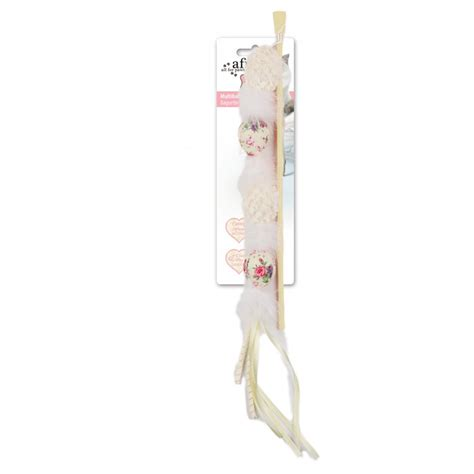 shabby chic toys shabby chic multiball wand cat toy white baxterboo
