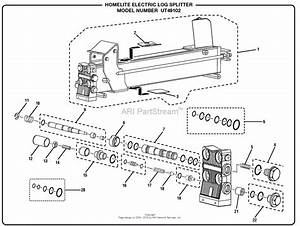 Homelite Electric Log Splitter Ut49102 Parts Diagram For