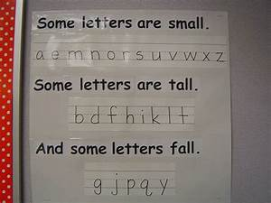 classroom writing some letters are tall some letters With tall letters