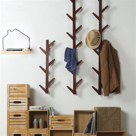 hooks vintage bamboo wooden hanging coat hook hanger