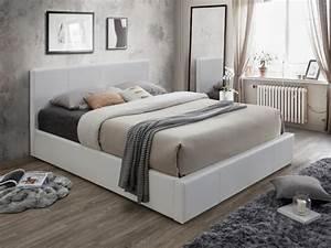 Bett Weiß 180x200 Mit Bettkasten : polsterbett mit bettkasten tremplin wei g nstig ~ Bigdaddyawards.com Haus und Dekorationen