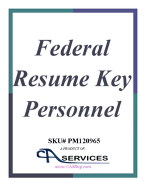 federal key personnel resume template