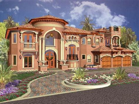 florida style house plans  square foot home  story  bedroom   bath