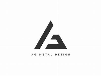 Ag Metal Logos Company Simple Letter Dribbble