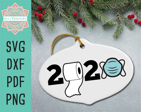 Christmas· digital freebies· holidays, seasons and special events· svg. 2020 Christmas Ornament Cut File for Silhouette and Cricut ...