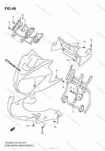 Suzuki Motorcycle 2008 Oem Parts Diagram For Cowl Body
