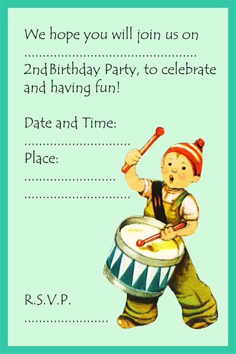 a birthday invitation 2nd birthday invitations and 2nd birthday invitation