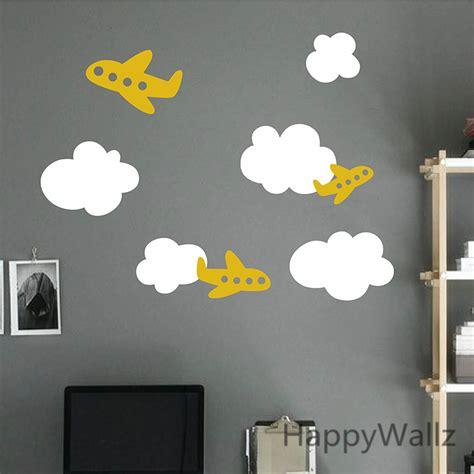 aliexpress buy airplane wall sticker plane clouds
