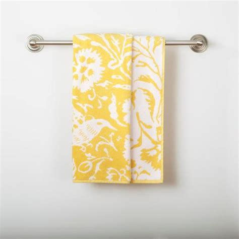Yellow/White Parnavi Bath Towel World Market