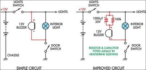 build simple headlight reminders circuit diagram