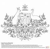 Arms Coat Australian Coloring Pages Australia Printable Flag Animals Drawing Symbols Clipart Sheets Supercoloring Cub Many Pdf Animal Christmas sketch template