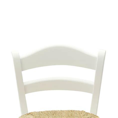seduta sgabello sgabello alto country in legno laccato bianco con seduta