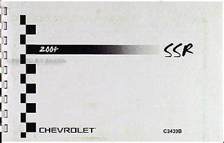 auto repair manual online 2004 chevrolet ssr free book repair manuals 2004 chevy ssr owner s manual package