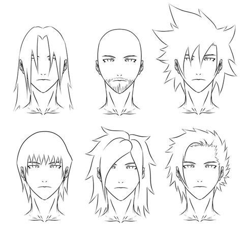 There are so many hairstyles you can draw on your characters and their hair can really help show their personality too. Anime hair syles 2 by SKELLEBONES on DeviantArt