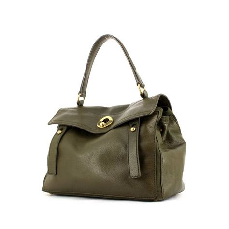 sac a dos cuir et toile yves laurent muse 2