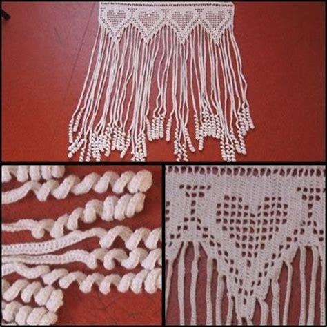pin rideau au crochet duo de coeurs 35x30 textiles et