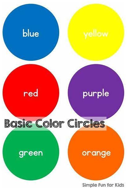 Preschool Colors Activities Toddlers Basic Circles Learning