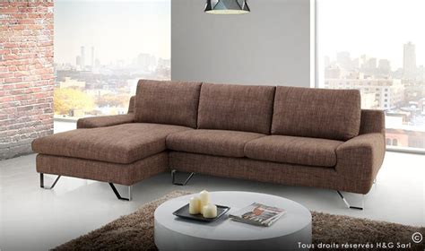 canapé d angle moderne pas cher canape d 39 angle moderne tissu finition marron kent