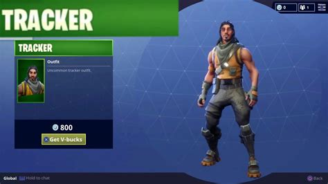 tracker uncommon outfit character skin  fortnite battle