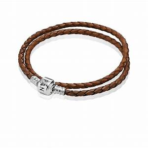brown braided double leather charm bracelet pandora jewelr With pandora letter bracelet