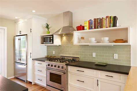 Green Tile Backsplash Kitchen : Green Glass Tile Kitchen Backsplash