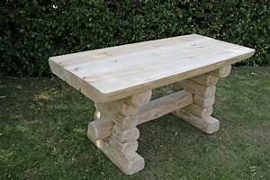 Rustikale Tische Aus Holz : rustikaler holz gartentisch massive gartenm bel gartenb nke und tische gartenm bel rustikale ~ Indierocktalk.com Haus und Dekorationen