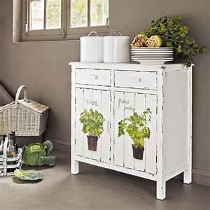 Buffet Blanc Maison Du Monde : buffet de cuisine en bois blanc l 80 cm cuisine ~ Teatrodelosmanantiales.com Idées de Décoration