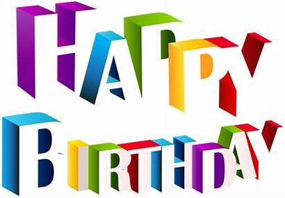 Birthday Happy 3d Text Clip Transparent Multicolor
