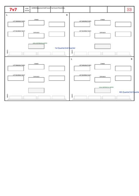 top  soccer lineup templates      format