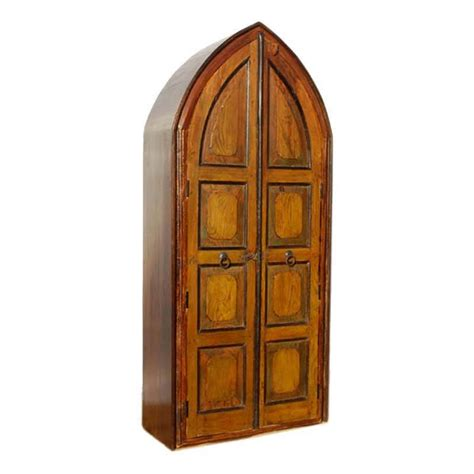 norwich cathedral style  shelf solid wood rustic armoire
