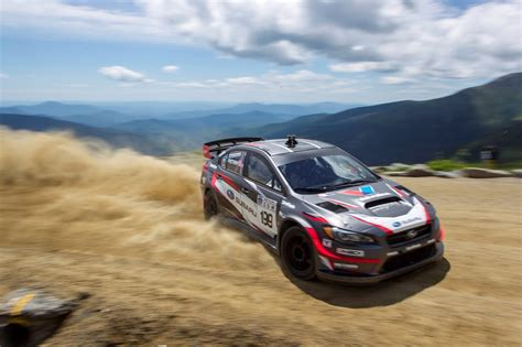 subaru rally travis pastrana sets mount washington hillclimb record in