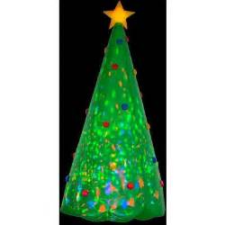 gemmy 8 ft h inflatable projection kaleidoscope christmas tree 89776x the home depot