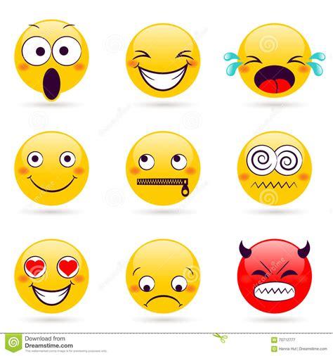 leendesymbol smileyframsidor som uttrycker olika kaenslor