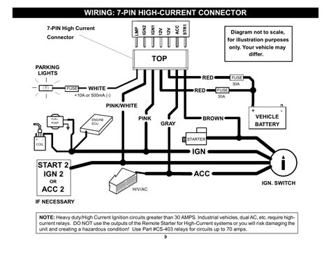 Crimestopper Remote Starter Wiring Diagram by Wiring 7 Pin High Current Connector Ign 2 Acc 2 Top