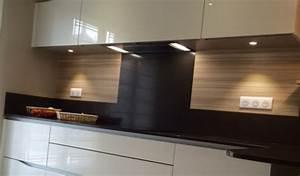 crdence inox sur mesure amazing with crdence inox sur With amazing meuble cuisine blanc laque 11 cuisines sur mesure et premier prix