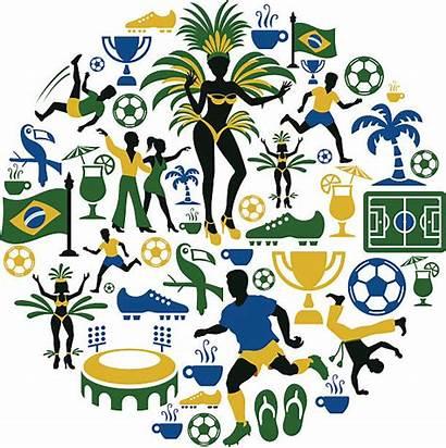 Collage Brazilian Vector Brazil Samba Illustrations Illustration