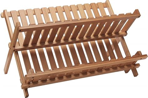 bamboo folding dish rack lipper international