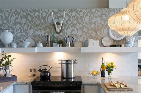 Wallpaper Ideas For Kitchen by Kitchen Wallpaper Ideas Wall Decor That Sticks