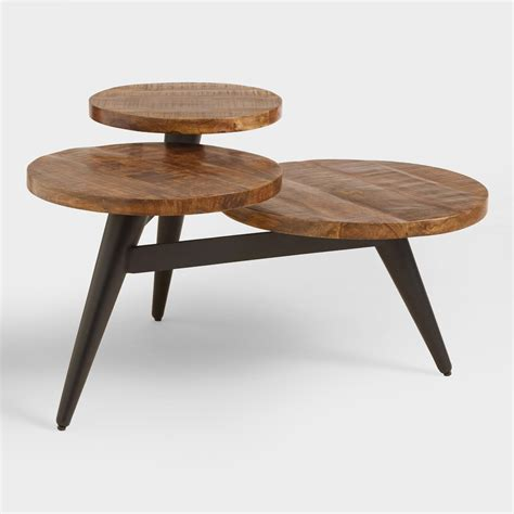 wood and metal multi level coffee table market