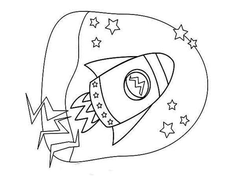 kids rocket ship drawing coloring page  print