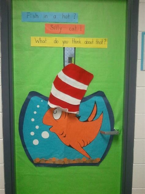 Dr Seuss Door Decorating Contest Ideas by Fish Out Of Water Classroom Door Decoration Idea